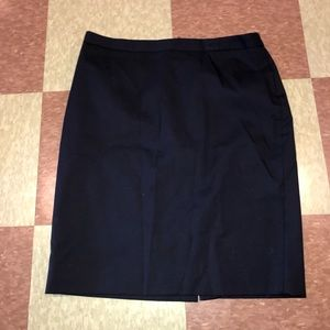 J crew navy wool 120 skirt pencil 10